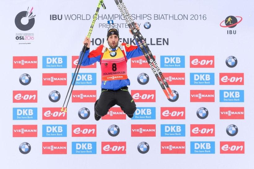 Ülivõimas Fourcade jätkab võitmatuna, Björndalen noppis karjääri 42. MM-medali!