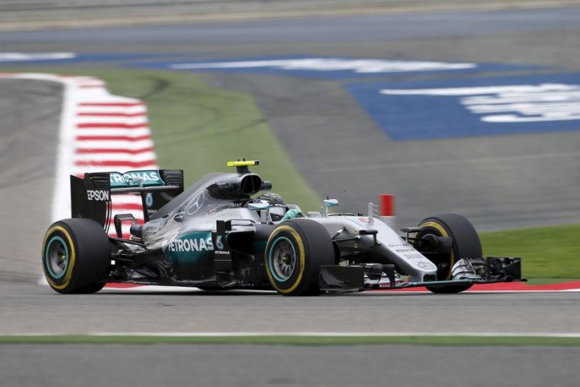 Bahreini GP esimesed kaks vabatreeningut kuulusid Nico Rosbergile
