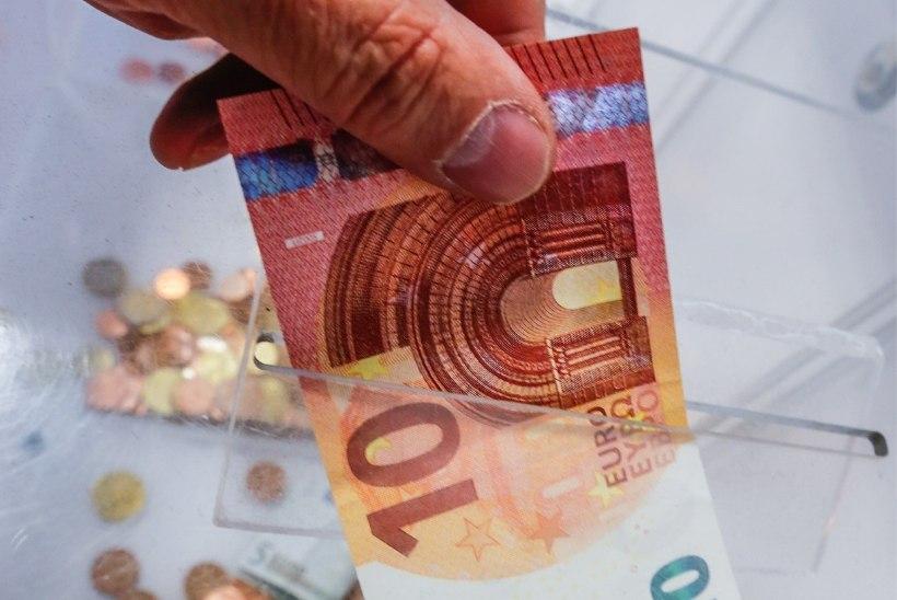 Korjanduskarbist nätsuga raha varastanu jäi vahele