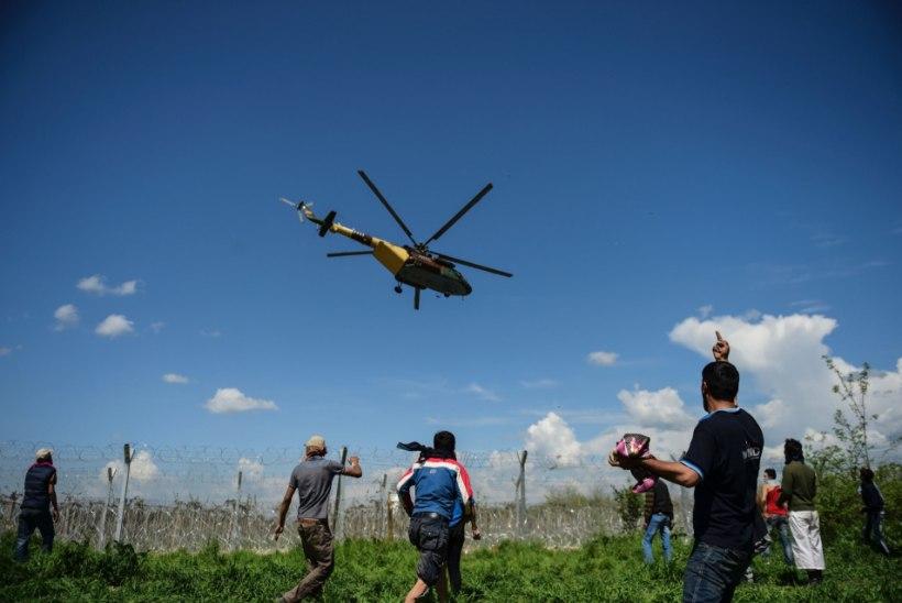 FOTOD   Makedoonia kasutas põgenike vastu pisargaasi, Kreeka laidab seda