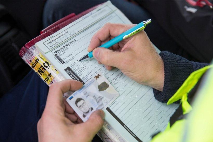 Avarii teinud politseinik sai 128 eurot trahvi