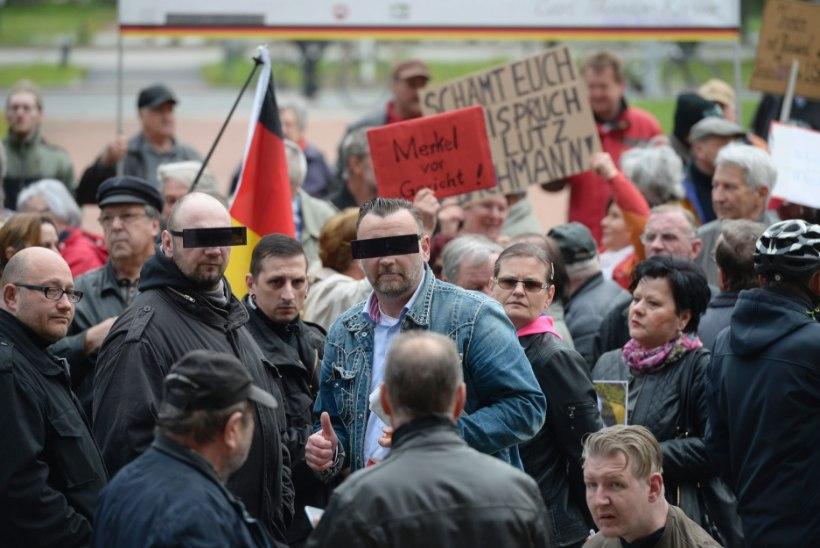 FOTOD | Pegida juht Saksamaal vihakõnede pärast kohtu all