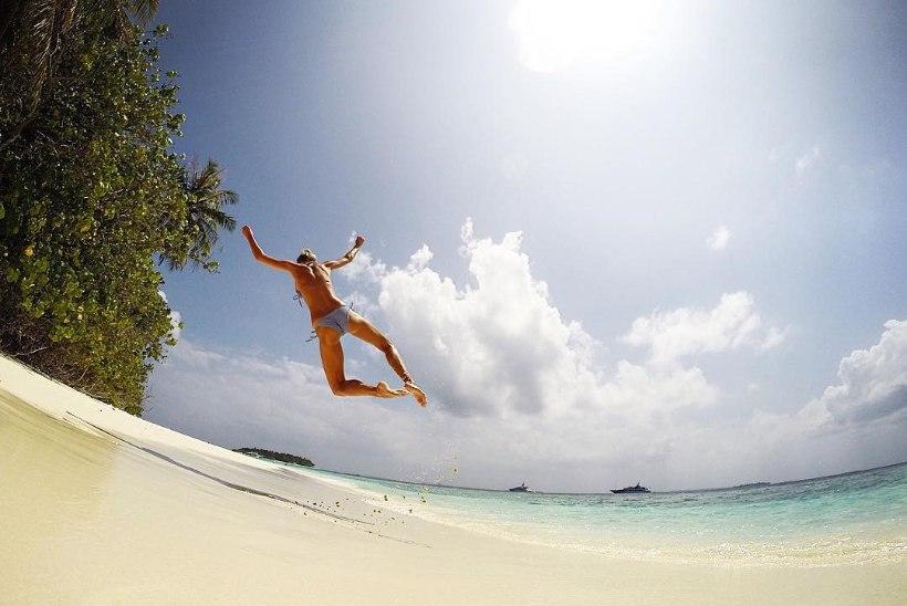 PILTUUDIS   Anni Rahula on õnnelik ning Maldiividel