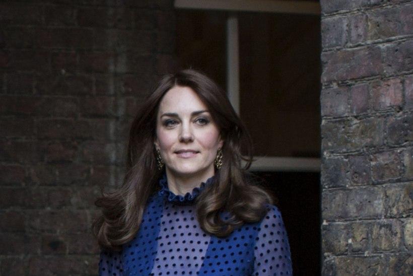 STIILSELT SININE: India visiidiks valmistuv hertsoginna Catherine tõmbas selga  India moekunstniku kleidi