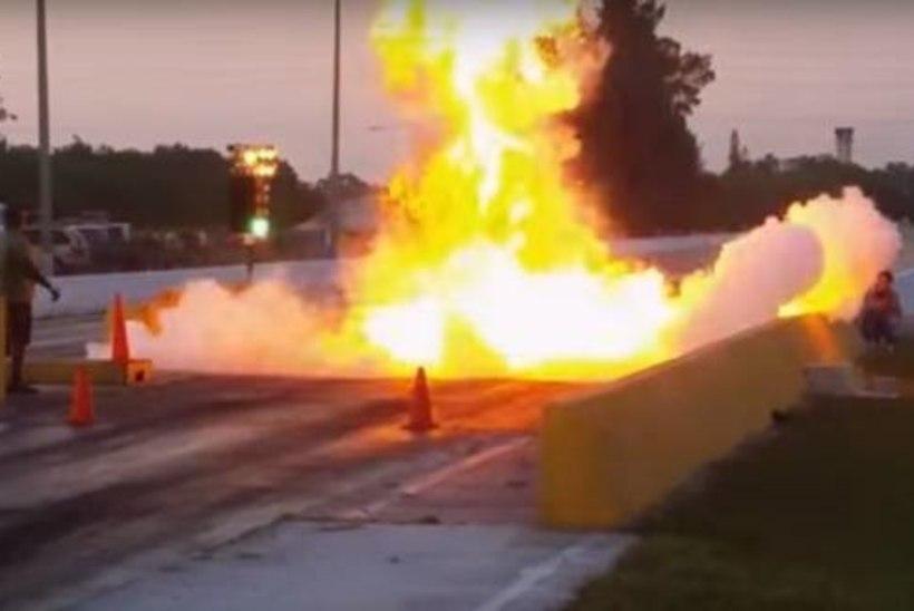 Video: kiirendusrajal plahvatas Chevrolet
