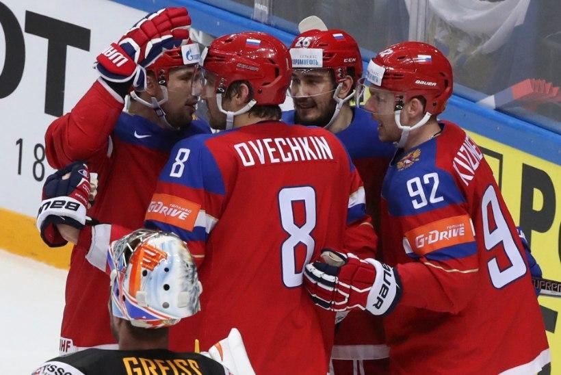 JÄÄHOKI MM: Saksamaa andis Venemaale raske lahingu, kuid kaotas, Kanada purustas Rootsi,