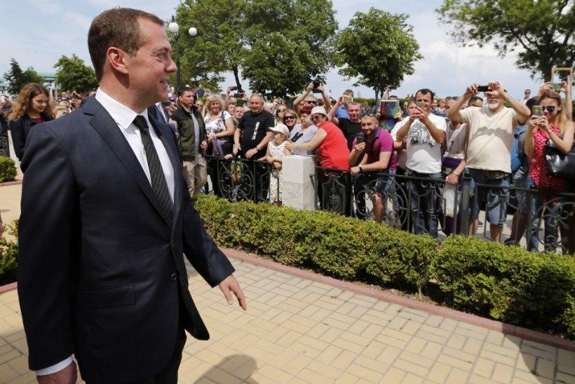 """Medvedev Krimmi pensionärile: """"Raha ei ole. Pidage vastu."""""""