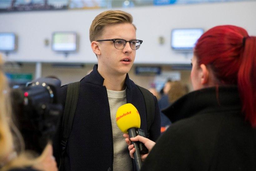 ÕHTULEHE GALERII JA VIDEO   Jüri Pootsmann asus Eurovisionile teele: tahan juba lavale minna!