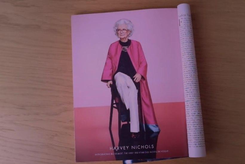 Vogue'i juubelinumbris poseerib 100aastane modell