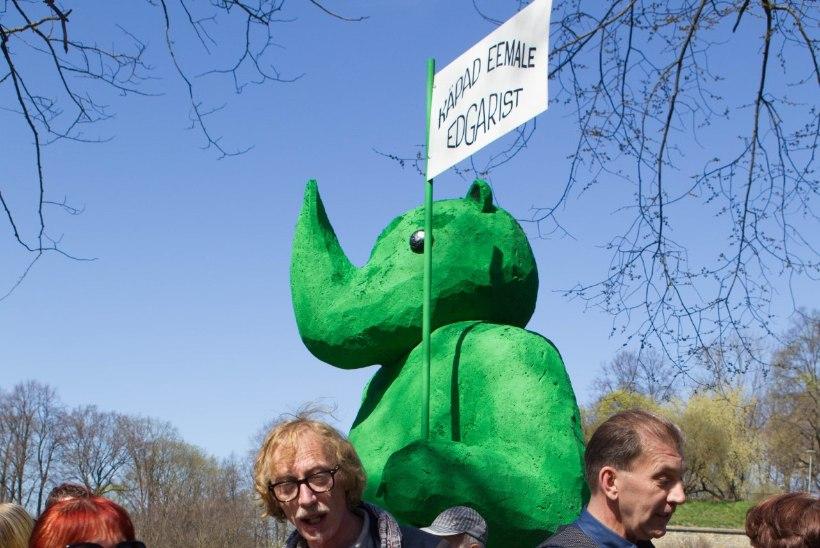 GALERII | Savisaare toetuseks peeti taas kõnekoosolekut