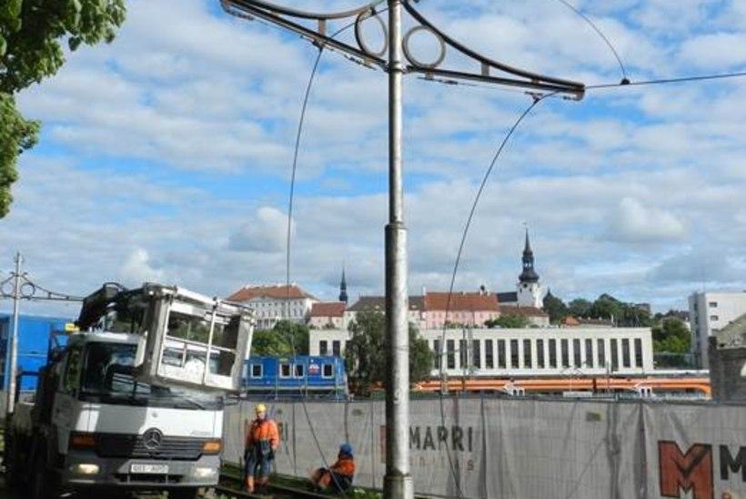 Mis saab vanadest Kopli trammiliini kontaktpostidest pärast remonti?
