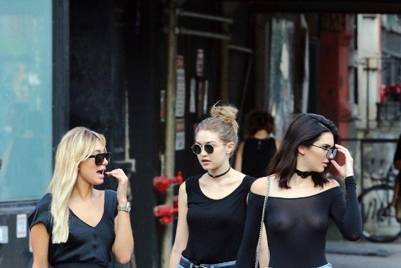 PÜÜAB PILKE: Kendall Jenner tõmbas selga läbipaistva pluusi