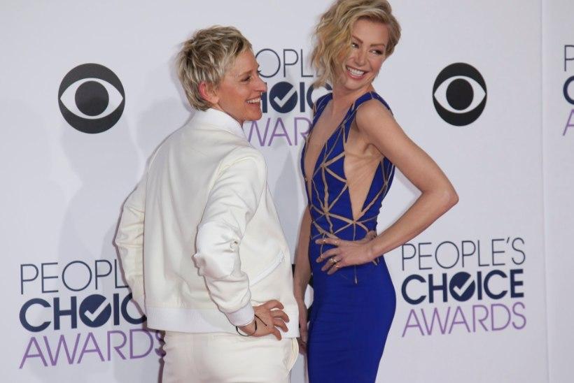 Ellen DeGeneres ja Portia di Rossi eelistavad lastele omavahelisi vestlusi ning rikkumata mööblit
