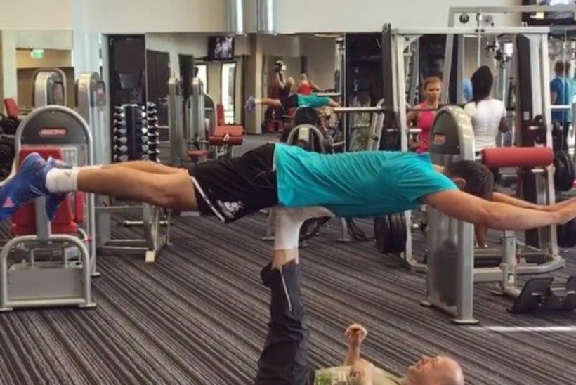 VIDEO | Vaata, kuidas kondiväänaja Vello Vaher ja Kristjan Kangur teevad koos trikki