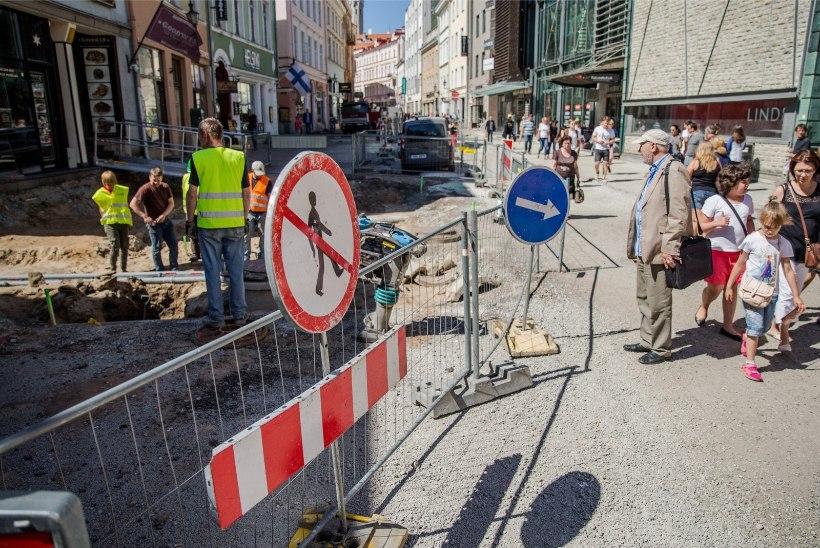 Üleskaevatud tänavad –  uus turismiatraktsioon suvises Tallinna vanalinnas