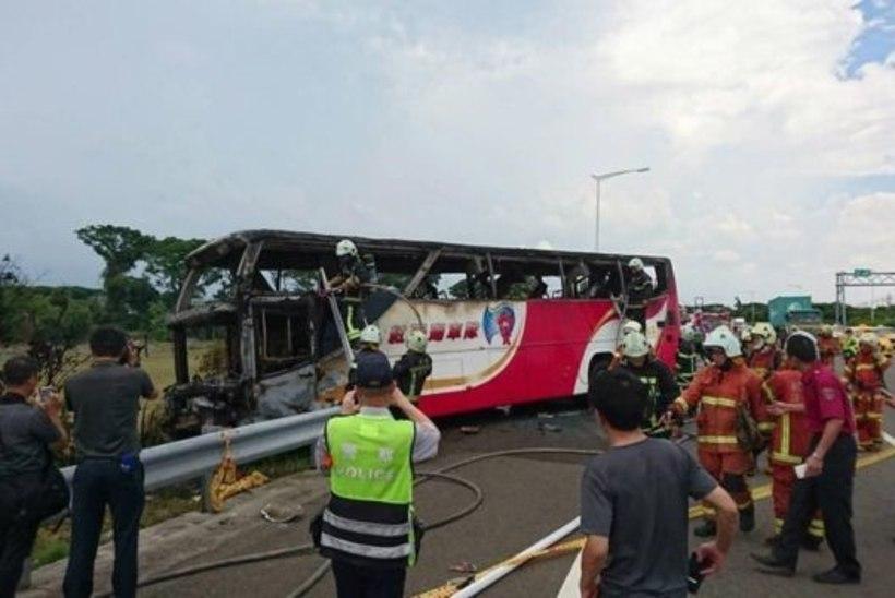 26 hiinlast suri Taiwani bussipõlengus