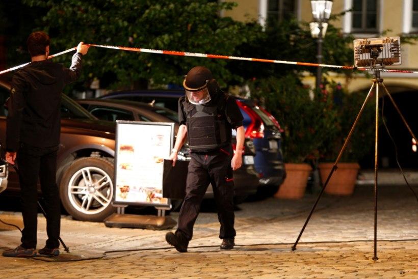 FOTOD SÜNDMUSKOHALT | RÜNNAKUTELAINE JÄTKUB: Ansbachi restoranis õhkis end enesetaputerrorist, vähemalt 12 inimest sai vigastada