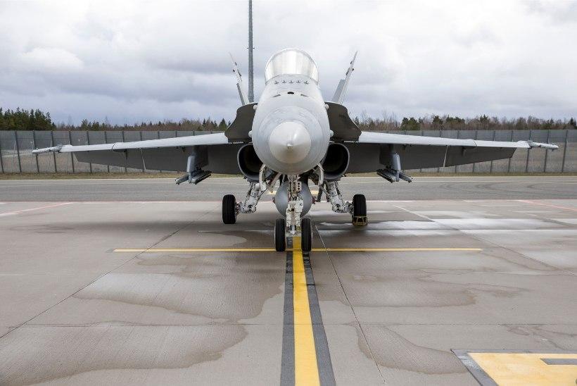 Liitlaste hävitajad harjutavad Eesti õhuruumis, tehakse ka madallende