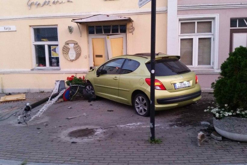Epp Maria Kokamägi galeriisse ramminud autost: hea, et inimesed viga ei saanud