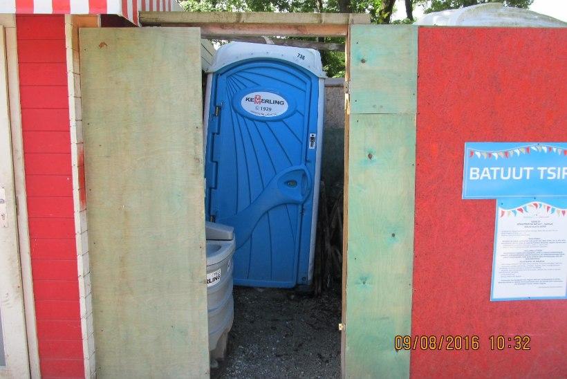 Triiki täis tualettidega tivoli sai trahvi
