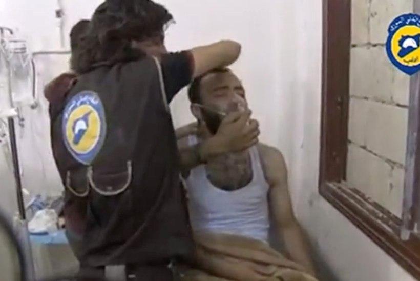 Süüria linnale, kus eile tulistati alla Vene kopter, heideti mürkgaasi