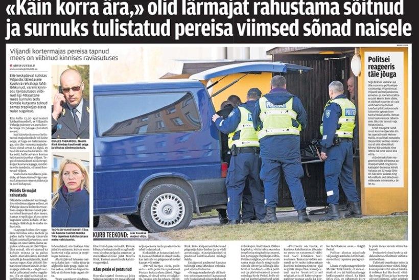 Viljandis mehe surnuks tulistamises süüdistatav läheb kohtu alla