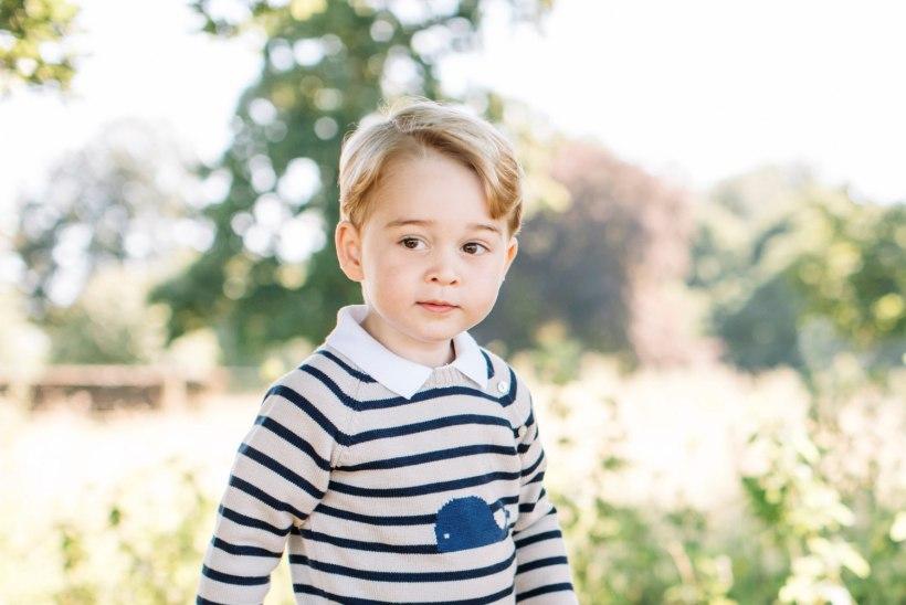 Prints George läbustab köögis