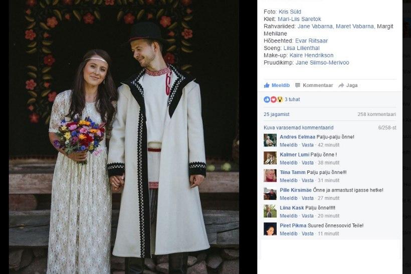Sandra ja Jalmar Vabarna peavad setu pulmi