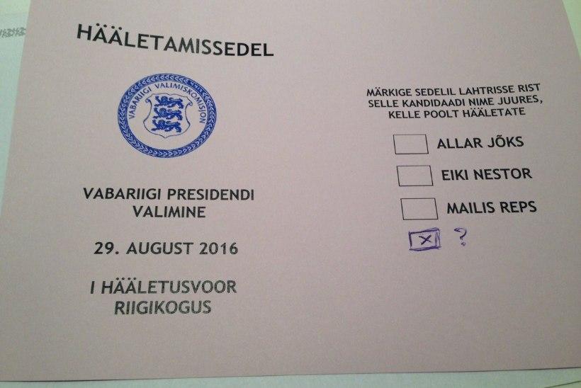 Helir-Valdor Seeder: kas saadikute agar valimissedelite pildistamine on seaduslik või seab presidendivalimised ohtu?