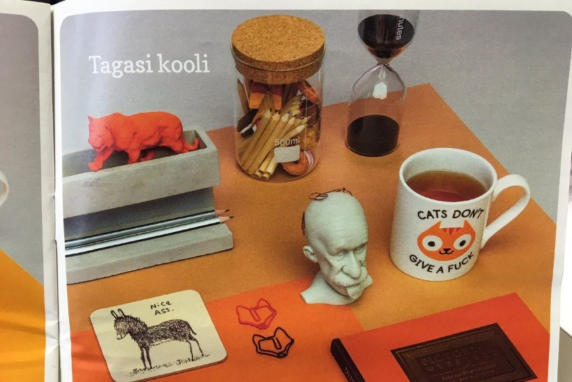 Rahva Raamatu reklaamleht pakub  sündsusetu alatooniga koolitarbeid