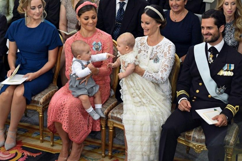 Rootsi prints ei teinud ristimisel vähimatki nutukisa