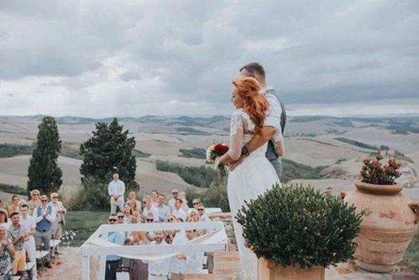 PALJU ÕNNE! Tanja Mihhailova ja Mikk Saar abiellusid Itaalias