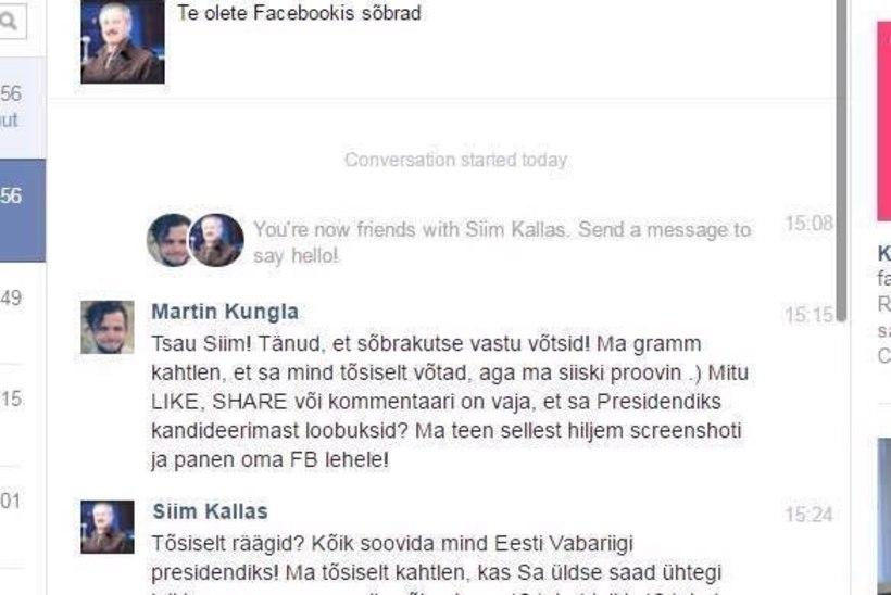 Siim Kallase kohta tehtud Facebooki-nali võinuks kalliks maksma minna