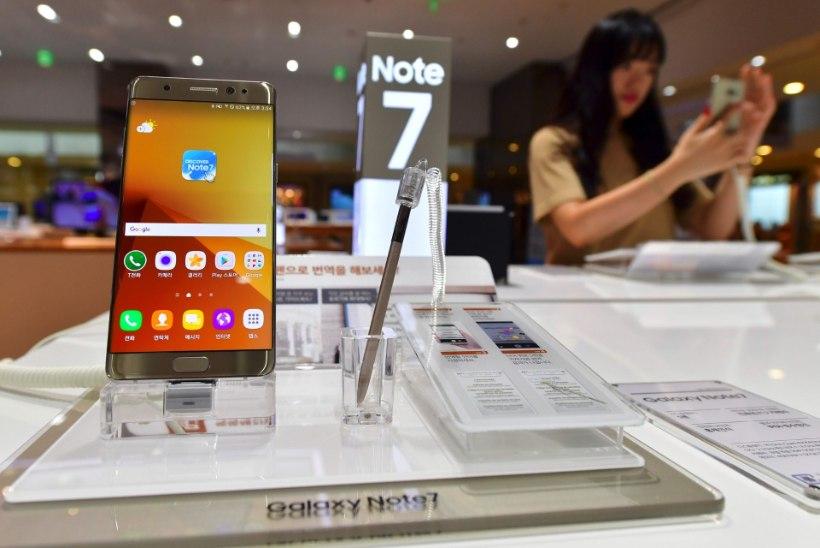 Samsung kutsub Galaxi Note 7 tagasi, kuna nende akud plahvatavad
