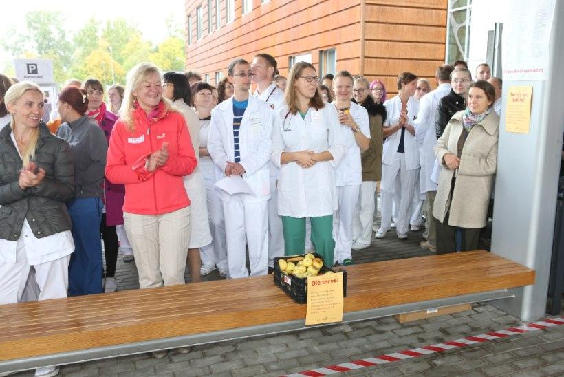 BLOGI, VIDEO JA GALERII TARTUST | Eesti arstid ja õed streikisid tervishoiu rahastamise parandamise nimel