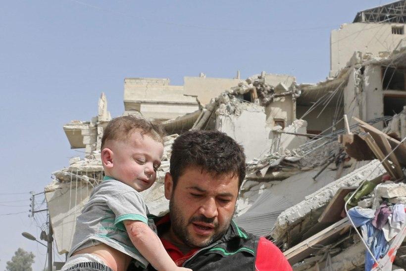 Aleppole korraldati võimas õhurünnak