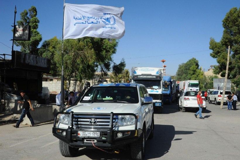 ÜRO abikonvoid jõudsid Süürias ümberpiiratuteni