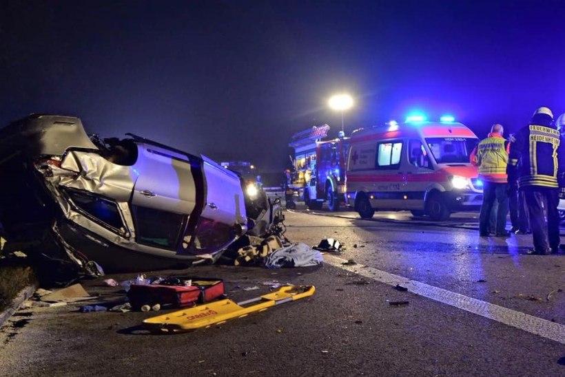 Saksamaal viskas kurjategija maanteele betoonkamaka, neljaliikmeline pere sai raskelt viga