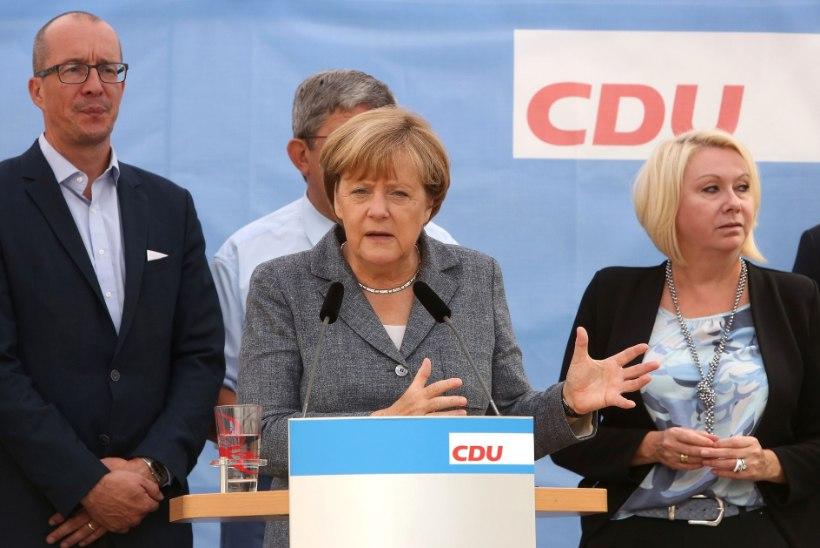 Merkeli partei sai Saksa kohalikel valimistel pagulasvastastelt lüüa