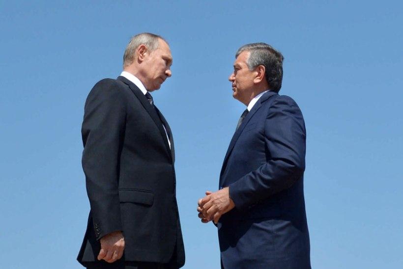 GALERII | Putin Usbekistani riigipea haual: usbekid võivad alati venelastele loota