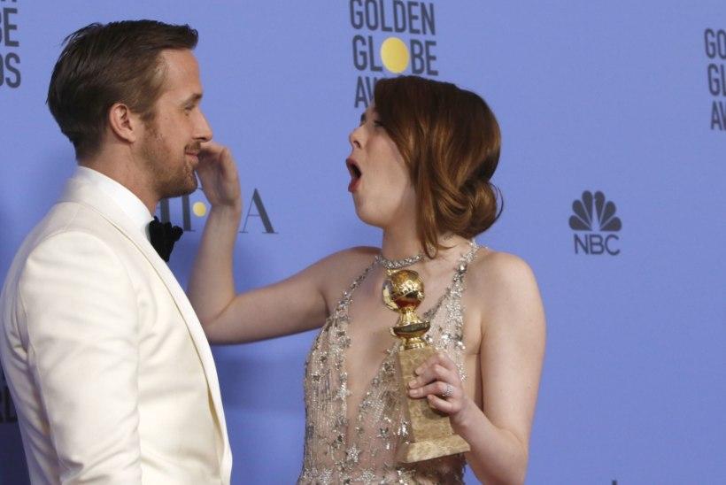 Emma Stone'i veider kallistus nimetati Kuldgloobuste piinlikemaks hetkeks