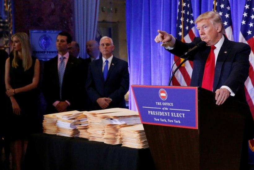 """Donald Trump välistab """"taaskäivituse"""" Venemaaga ja loobub oma ettevõtete juhtimisest"""