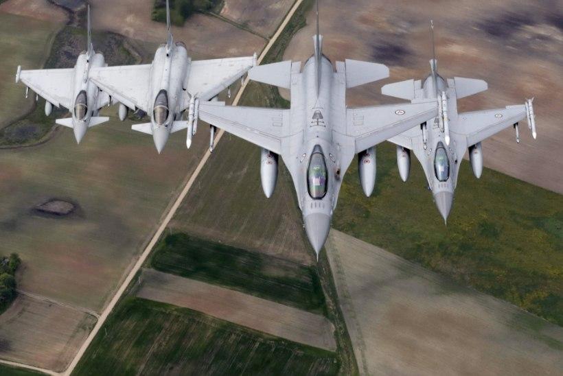 NATO hävitajad teevad taas Eesti õhuruumis madallende