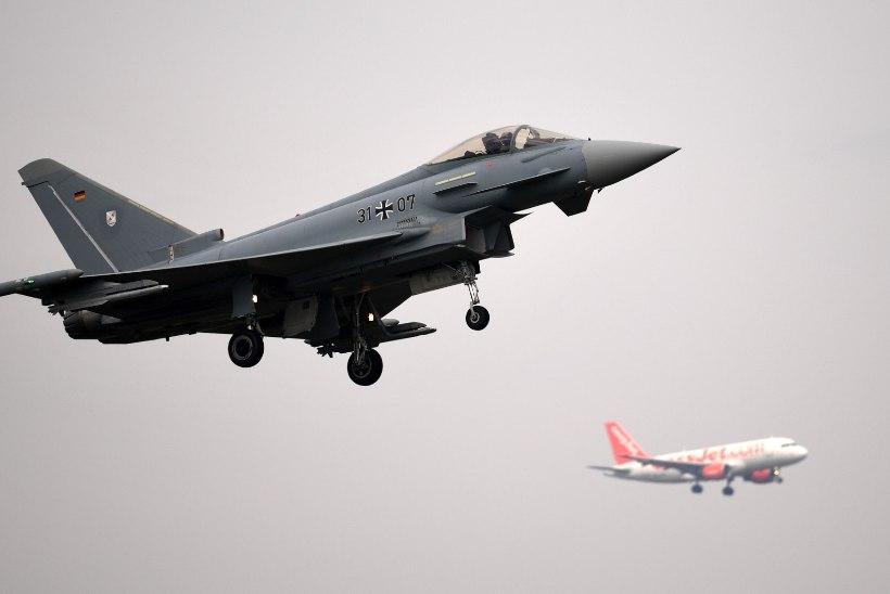 Saksa Eurofighterid teevad Eesti kohal harjutuslende