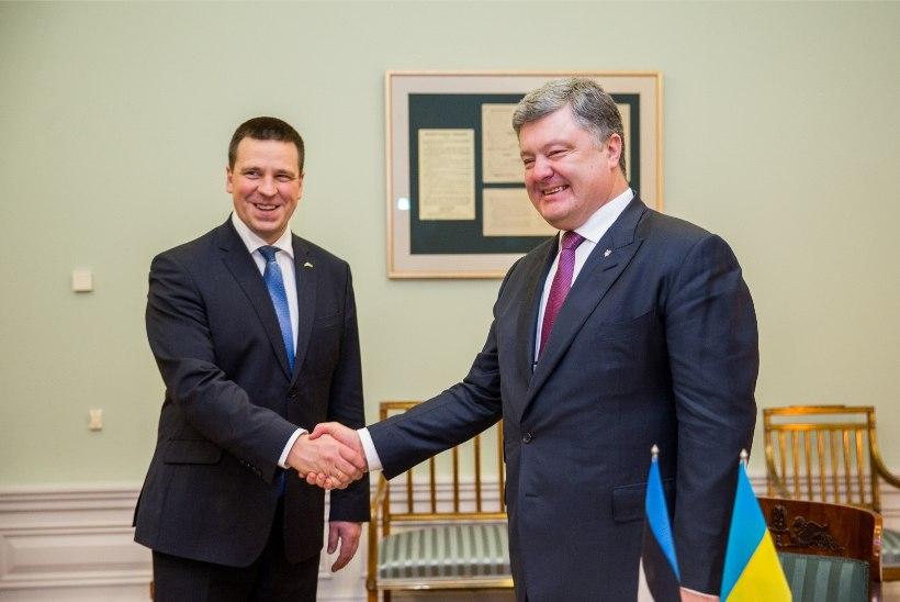 GALERII   Ukraina president kohtub Jüri Ratase ja Eiki Nestoriga