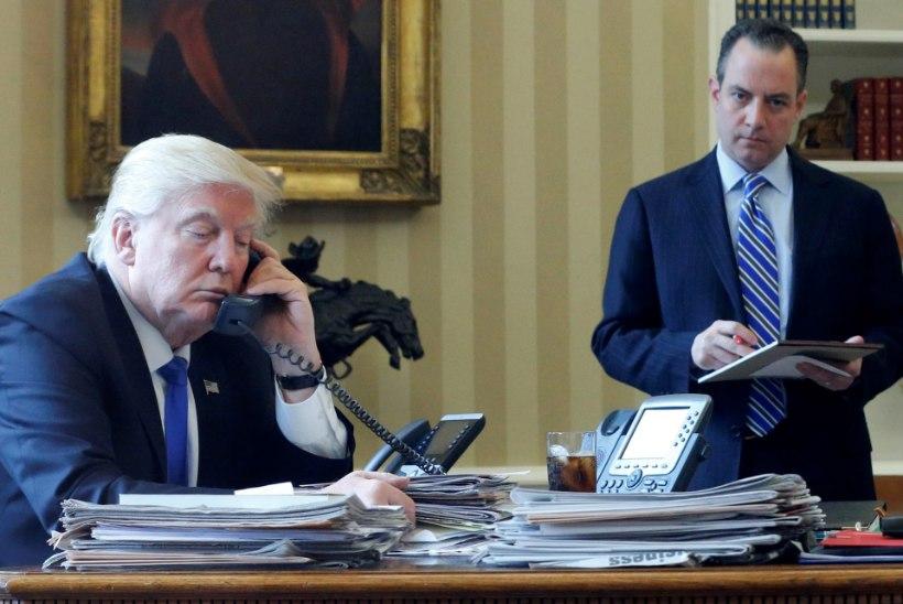 FOTO | KÕNE MERKELILE, SIIS JUTUAJAMINE PUTINIGA: Trump on terve päeva telefoni otsas istunud