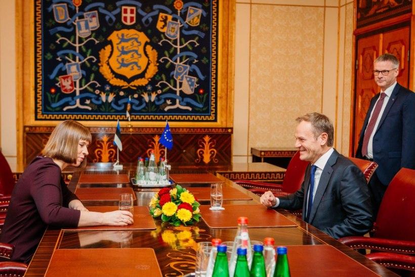 FOTOD | President Kaljulaid kohtus Donald Tuskiga