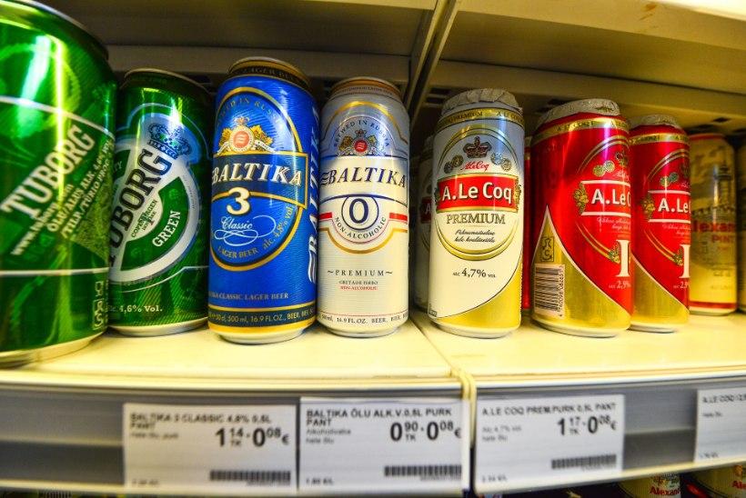 Suvel kujuneb alkoholiga ja alkoholivaba õlle hinnavaheks kuni 50%