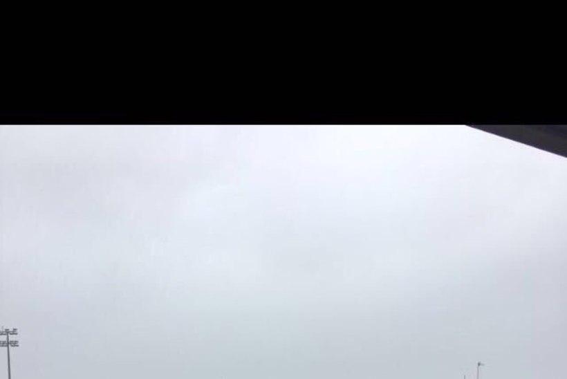 VIDEO | Orkaan Ophelia rebis Levadia eurovastase kodustaadionilt katuse