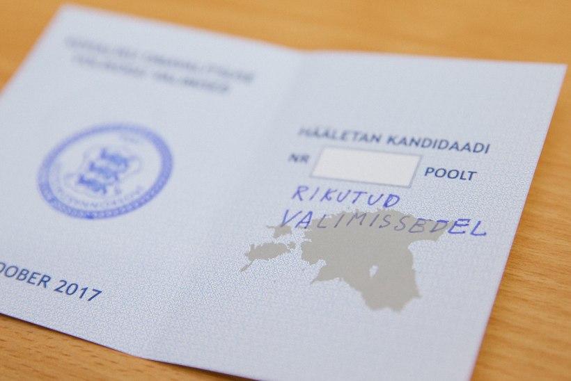 GALERII | Kehtetud hääletussedelid peegeldavad tallinlaste loomingulisust ja halba käekirja